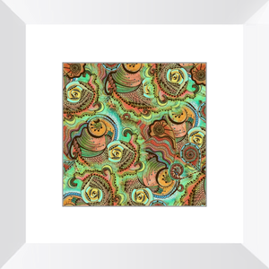 Cornucopia Pattern Framed Art Print