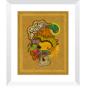 Caravan Framed Art Print