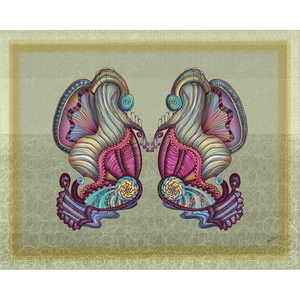 Mermaid Seashells Art Print