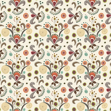 Wired Flower Pattern Art Print