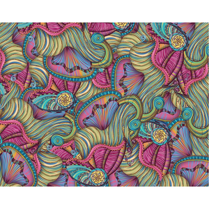 Mermaid Seashells Pattern Art Print