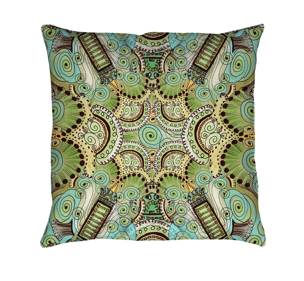 Belle Epoque Pattern Throw Pillow