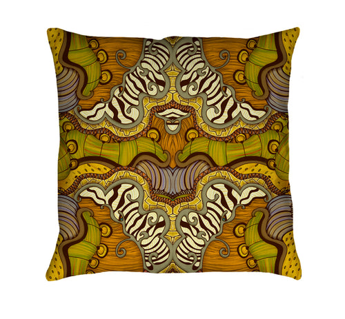 Caravan Pattern Throw Pillow