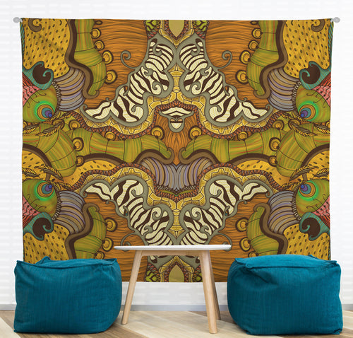 Caravan Pattern Wall Tapestry