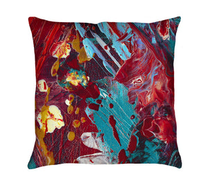 Comic Book Hero Throw Pillow