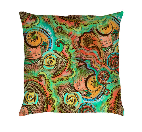 Cornucopia Pattern Throw Pillow