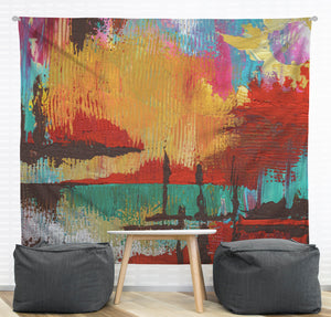 Fire in the Sky Wall Tapestry