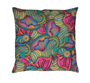 Mermaid Seashells Throw Pillow