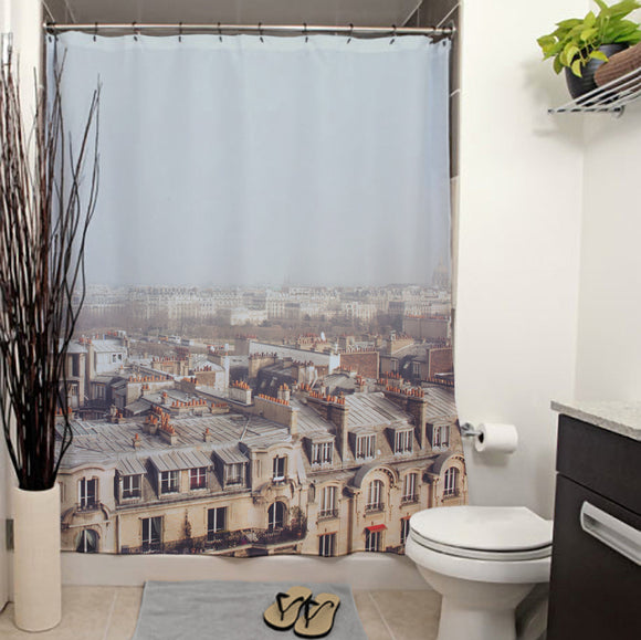 Paris Morning Rooftops Shower Curtain