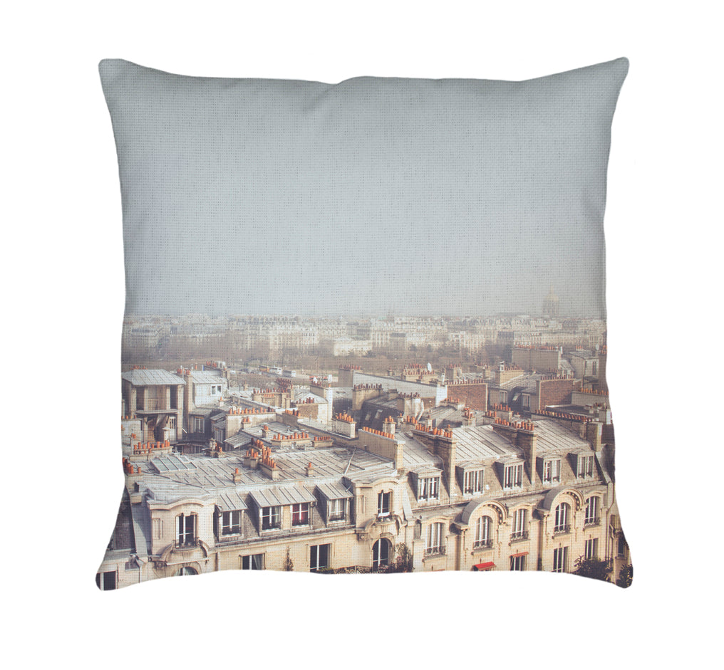 Paris Morning Rooftops Throw Pillow