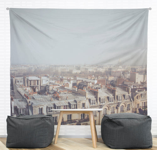 Paris Morning Rooftops Wall Tapestry