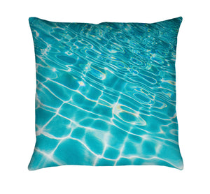 Pool Ripples Throw Pillow
