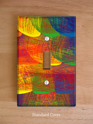 Rainbow Patch Wall Plates