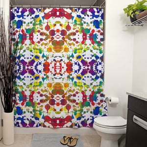 Rainbow Splash Shower Curtain
