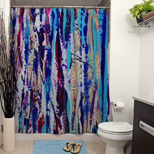 Silver Streak Shower Curtain