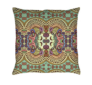 Spring Pastels Throw Pillow