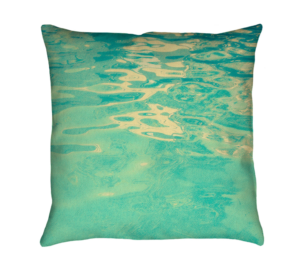 Summer Waters Throw Pillow