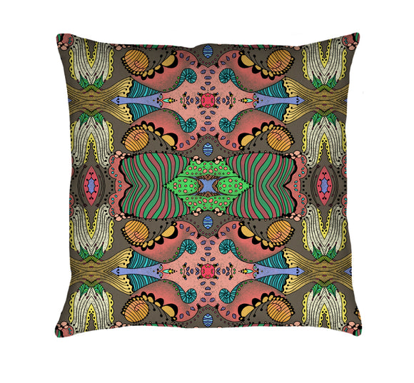 Tulip Mania Throw Pillow