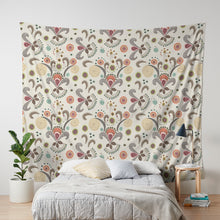 Wired Flower Pattern Wall Tapestry