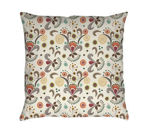 Wired Flower Pattern Throw Pillow