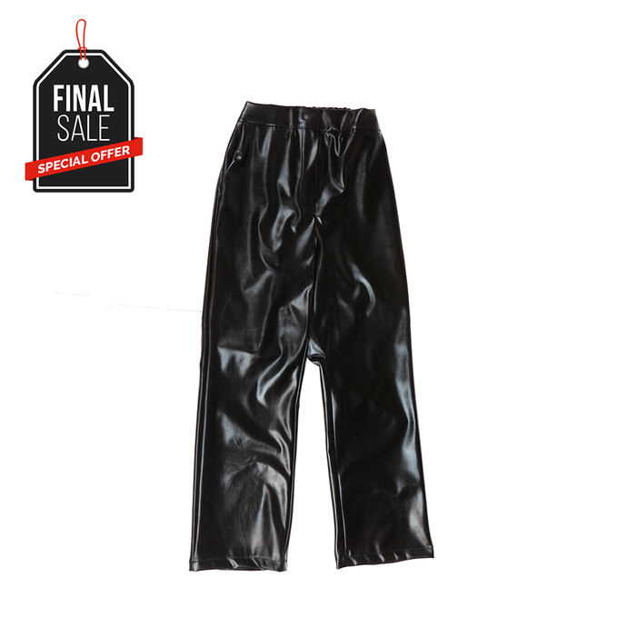 ENAMEL PANTS (BLACK)