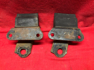 68 69 Camaro Rear Axle Bump Stop With Bracket Pair - Sundellauto Specialties Chevelle, El Camino, Malibu, Impala, Caprice, Biscayne, Bel Air, Camaro, Nova, Chevy II, GTO, LeMans, Tempest, Bonneville, Grand Prix, Catalina, Ventura, Skylark, Special, GS, Riviera, Gran Sport, Wildcat, Cutlass, Cutlass Supreme, 442, F-85, and Vista Cruiser  Original