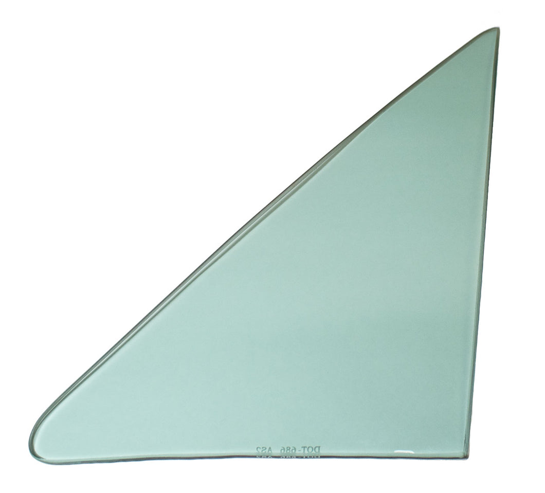 Vent Glass - Green Tint - LH - 68 GM A-Body Coupe & Convertible