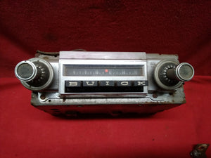 1965 BUICK SKYLARK AM RADIO WITH KNOBS - Sundellauto Specialties Chevelle, El Camino, Malibu, Impala, Caprice, Biscayne, Bel Air, Camaro, Nova, Chevy II, GTO, LeMans, Tempest, Bonneville, Grand Prix, Catalina, Ventura, Skylark, Special, GS, Riviera, Gran Sport, Wildcat, Cutlass, Cutlass Supreme, 442, F-85, and Vista Cruiser Radio Original