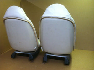 73-77 GM Swivel Bucket Seats Pair White and Red