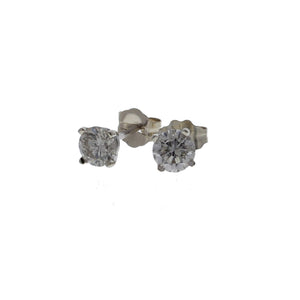 Diamond Stud Earrings 0.80 Carat Total Weight