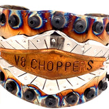 V8 Choppers Stainless Steel Copper Cuff Bracelet  Mark Kalen