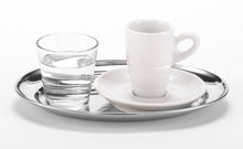 "Load image into Gallery viewer, Serving Platter Stainless for coffee 8.7"" x 6.3"""