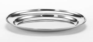 "Serving Platter Stainless for coffee 8.7"" x 6.3"""