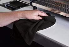Load image into Gallery viewer, Barista Towel - black microfiber