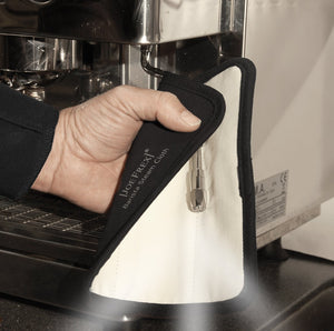 Barista Steam Micro Fiber Cloth with Steam BLOCKER inside / Cleaning the steam wand