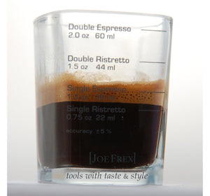 "Espresso Shot & Measuring Barista Glass 2oz 1,8""x1,8""x2,6""Single Double Shot Ristretto Espresso"