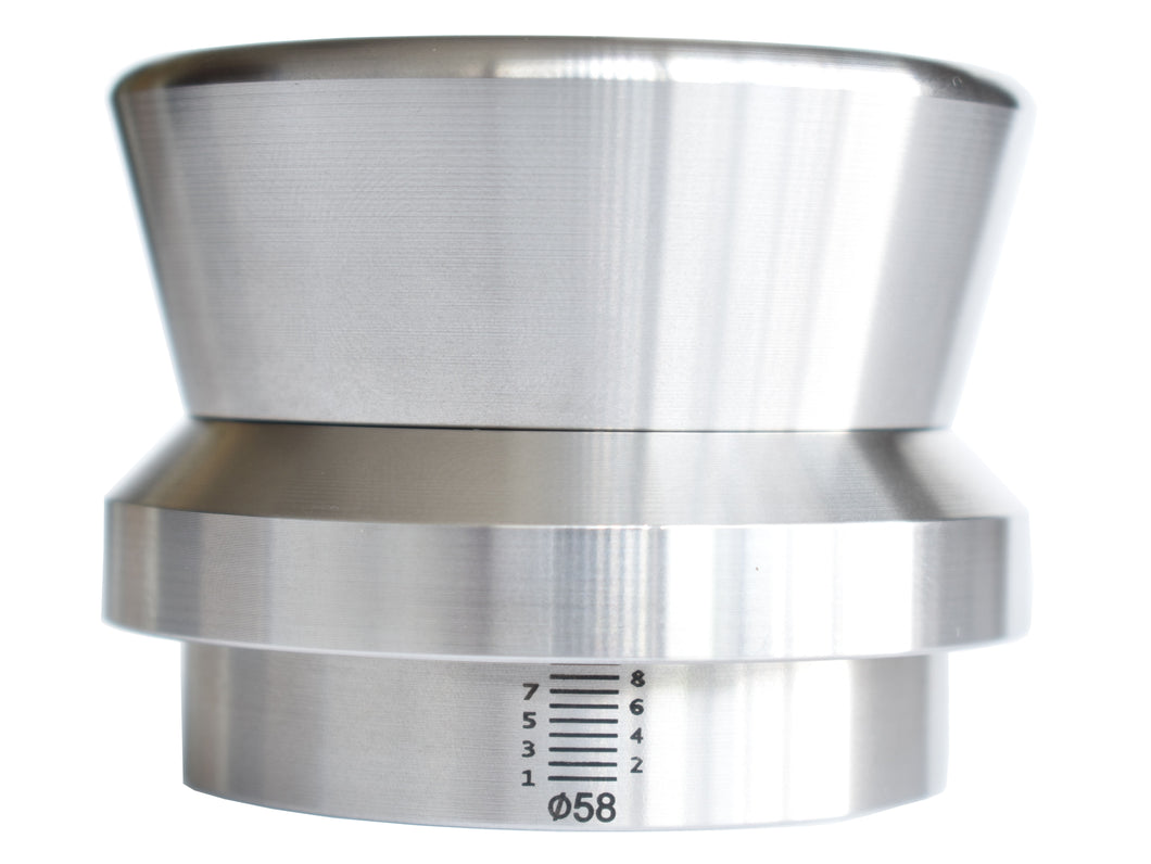 Espresso Level Tamper Coffee Palm Tamper in Stainless steel, heavy 58mm weight is 1.2 kilogram(2.71 LBS)
