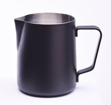 Load image into Gallery viewer, Steaming & Frothing Milk Pitcher Stainless BLACK
