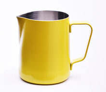 Load image into Gallery viewer, Steaming & Frothing Milk Pitcher Stainless YELLOW