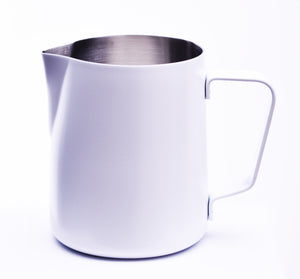 Steaming & Frothing Milk Pitcher Stainless WHITE