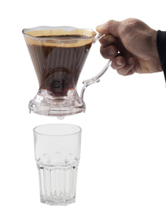 Filter Dripper Plastic with a Start Stop Mechanism, 3cups