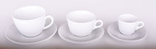 Load image into Gallery viewer, Cappuccino Cups Porcelain with Saucers Italian Style- 6.5 Ounce for Cappuccino- Set of 6