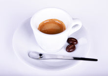 Load image into Gallery viewer, Porcelain Espresso Cups with Saucers - 2oz 60ml for Specialty Coffee Drinks- Set of 6, White