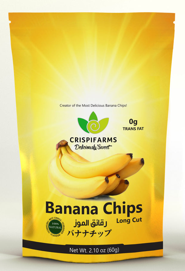 Crispifarms Banana Chips, Longcut, 60g x 24 pouches - Crispifarms