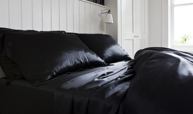 Black Silk Bedding