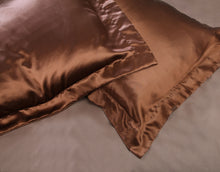 Chocolate silk pillow case