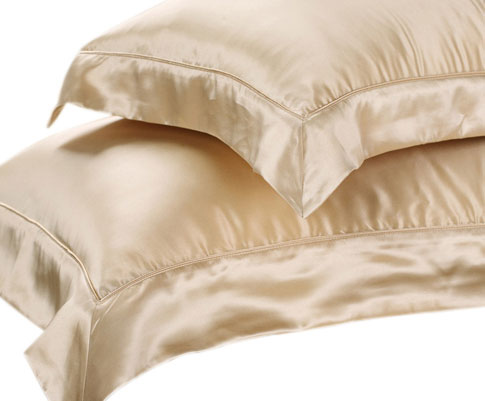 Ivory silk oxford pillowcase