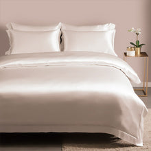 4 Piece Duvet Cover & Fitted Silk Bedding Set