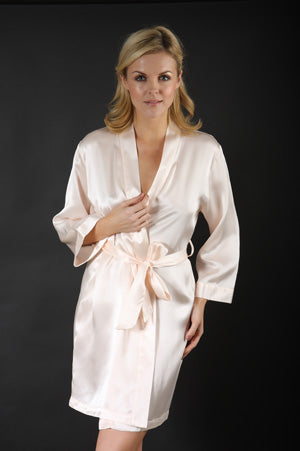 Silk Short Robe or Dressing Gown A08B