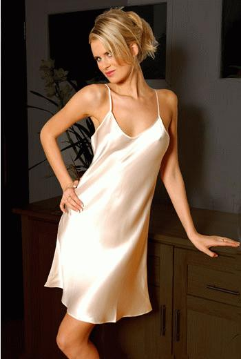 Classic Silk Chemise / Short Silk Nightdress
